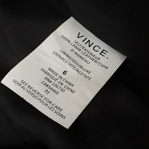 Vince Jackets & Coats - SOLD! Vince Tailored Collarless Leather Jacket